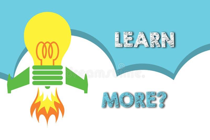 L'apparence de signe des textes apprennent plus de question E illustration libre de droits