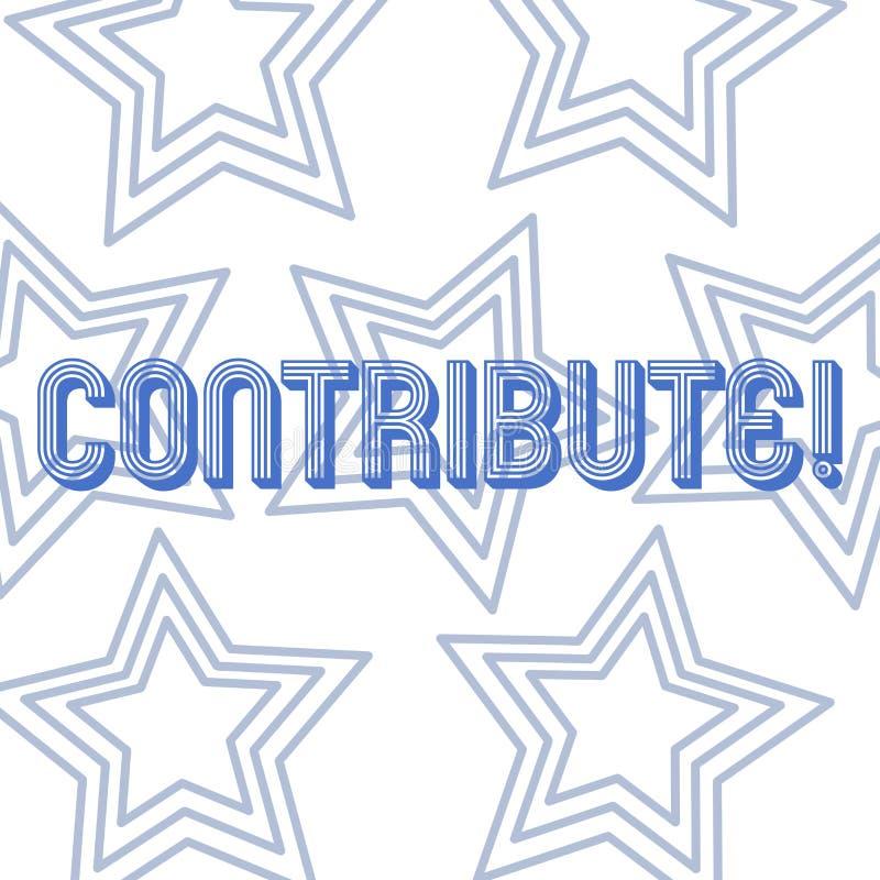 L'apparence de signe des textes contribuent Décision conceptuelle Teamworking de stratégie de photo pour le but réussi commun d'A illustration stock