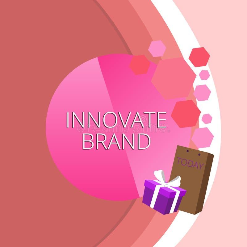 L'apparence de signe des textes innovent marque Photo conceptuelle significative pour innover produits, services et carte de voeu illustration stock