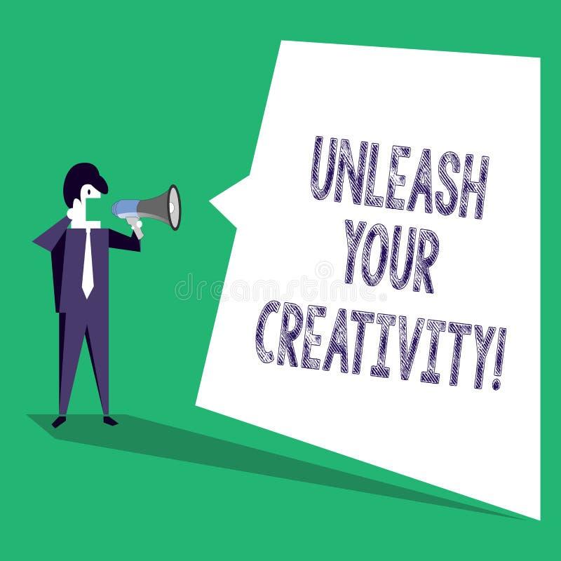 L'apparence de signe des textes lâchent votre créativité La photo conceptuelle développent la sagesse personnelle de caractère fa illustration de vecteur
