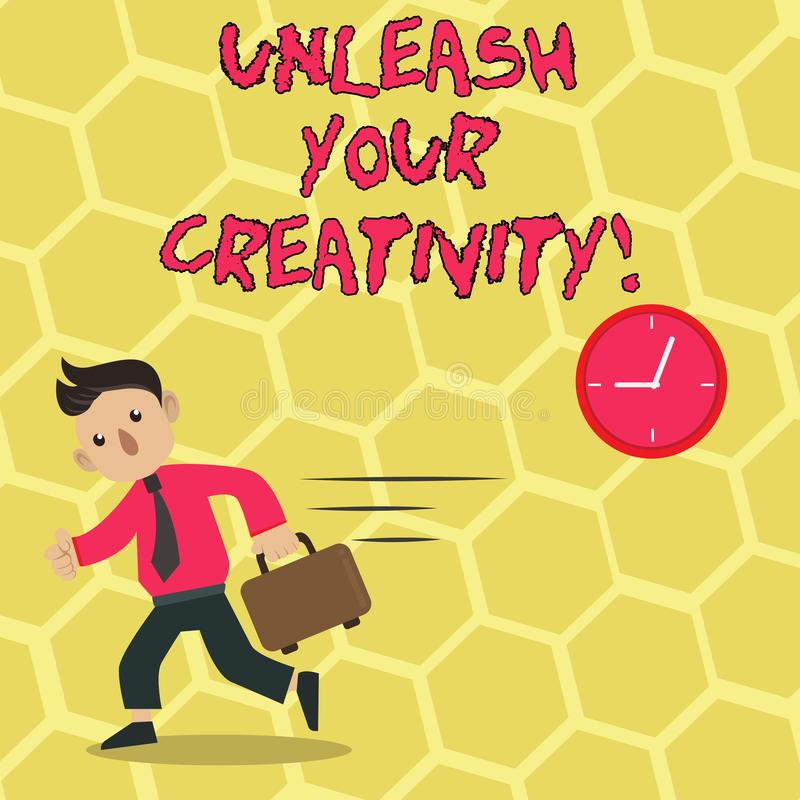 L'apparence de signe des textes lâchent votre créativité La photo conceptuelle développent la sagesse personnelle de caractère fa illustration libre de droits