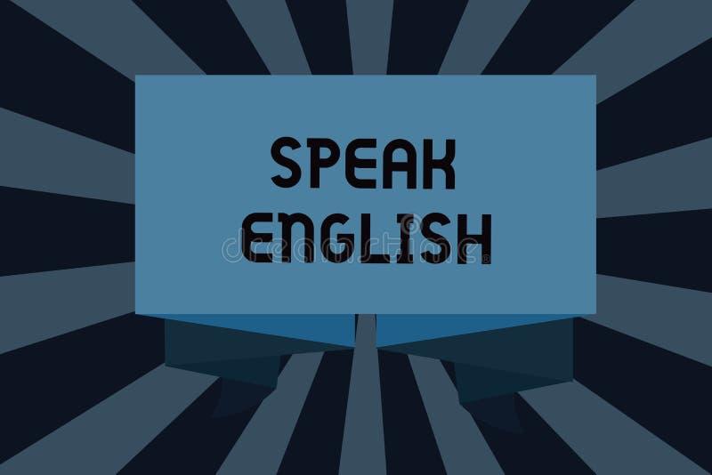 L'apparence de signe des textes parlent anglais Étude conceptuelle de photo des autres cours verbaux en ligne de langue étrangère illustration stock