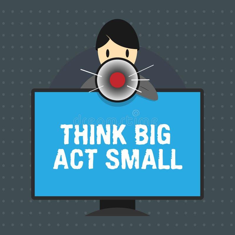 L'apparence de signe des textes trouvent la grande Loi petite Les grands buts ambitieux de photo conceptuelle prennent de petites illustration libre de droits