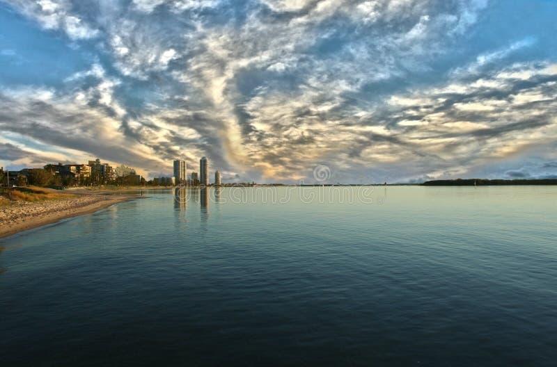Baie la Gold Coast d'emballement photos stock