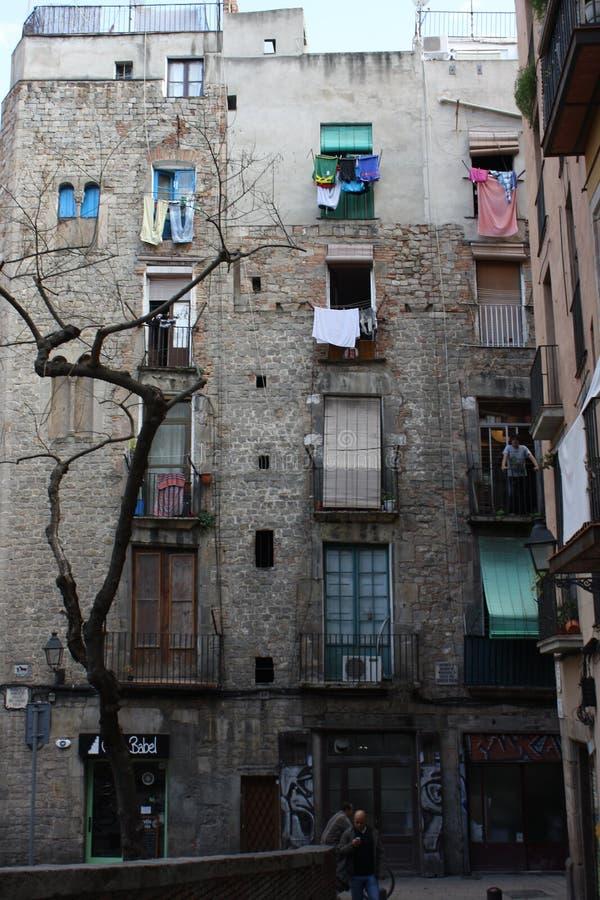 L'appartement oublié de briques photo libre de droits