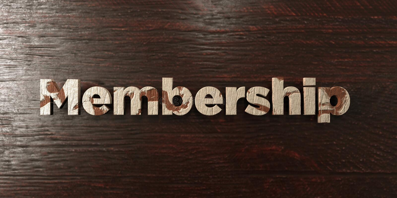 L'appartenenza - titolo di legno grungy sull'acero - 3D ha reso l'immagine di riserva libera della sovranità illustrazione vettoriale