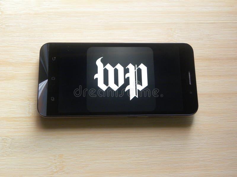 L'appli de Washington Post photo libre de droits