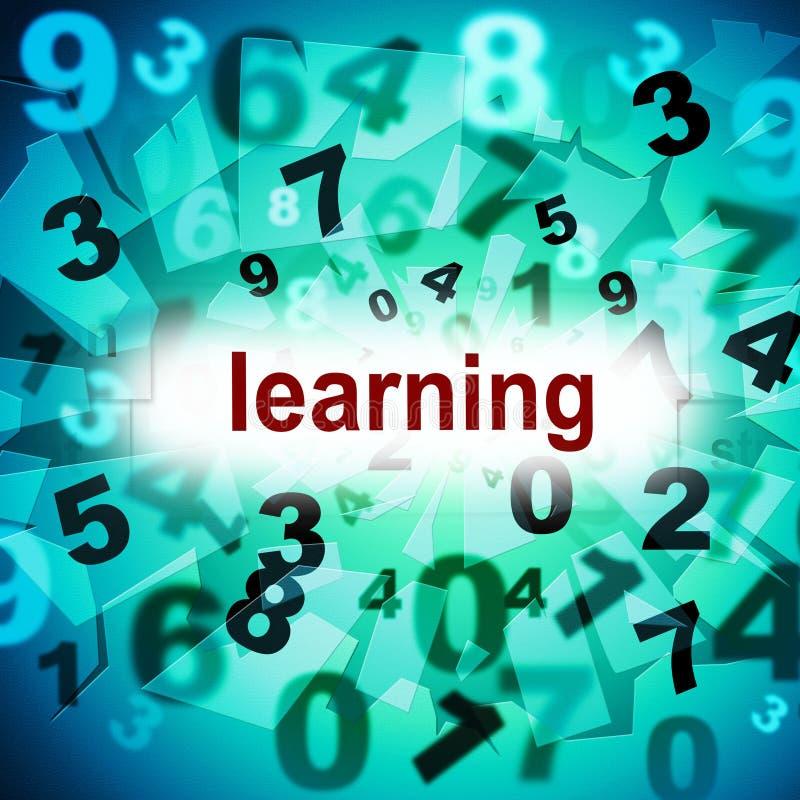 L'apprendimento impara indica lo sviluppo dell'università e si sviluppa illustrazione di stock