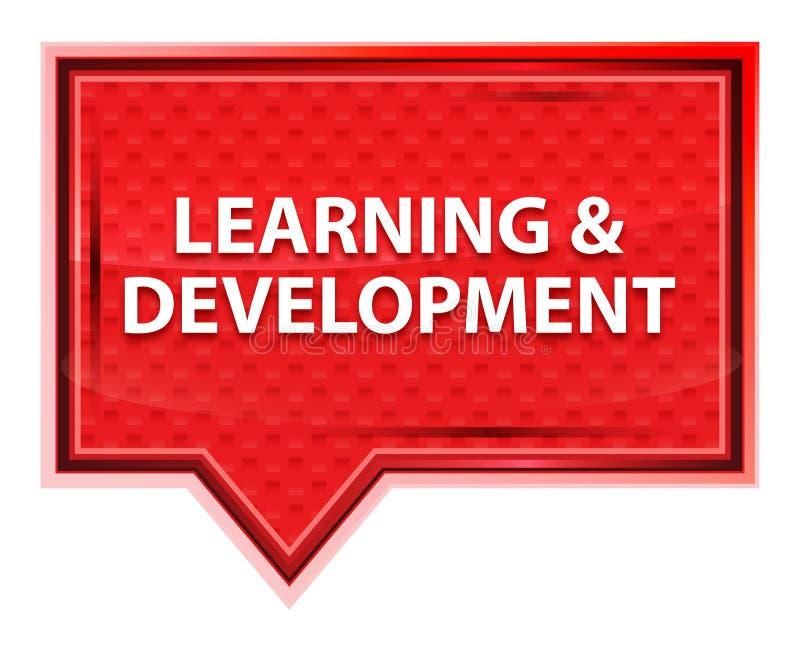 L'apprendimento & lo sviluppo nebbiosi sono aumentato bottone rosa dell'insegna illustrazione vettoriale