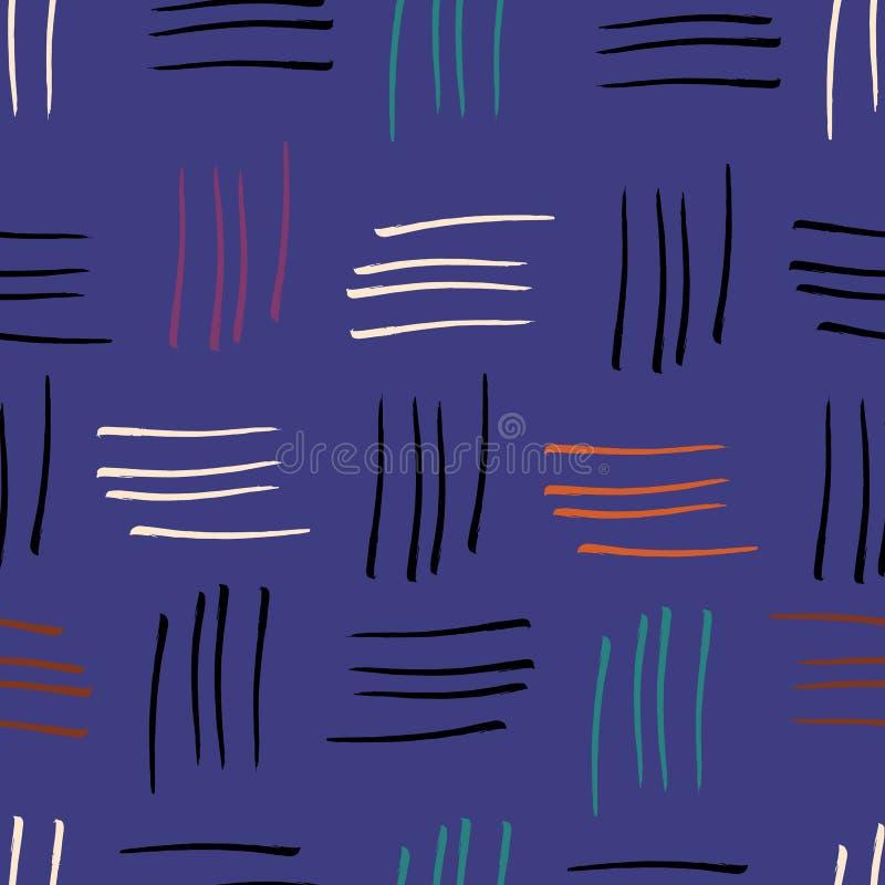 L'aquarelle abstraite barre le fond sans couture pourpre d'impression de modèle illustration stock