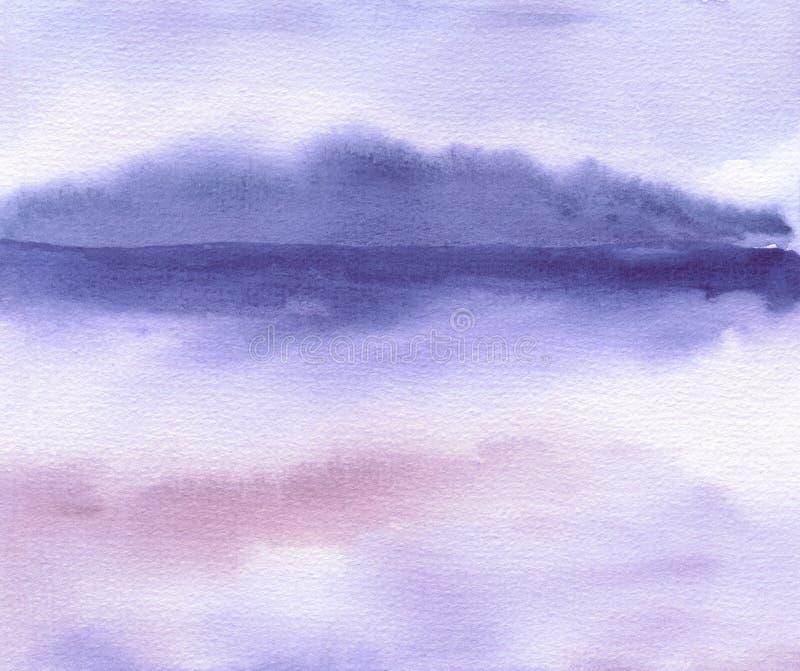 L'aquarelle abstraite a peint le fond Donnez au papier une consistance rugueuse illustration de vecteur