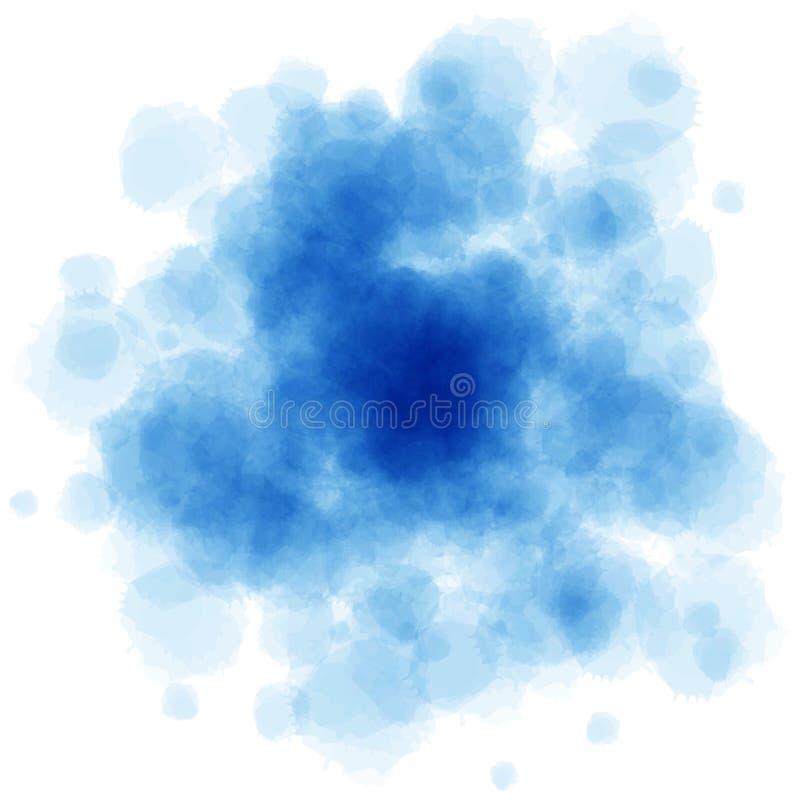 L'aquarelle bleue éclabousse photo libre de droits