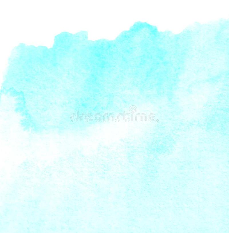 L'aquarelle bleue abstraite a peint le fond avec l'espace pour le texte ou l'image illustration de vecteur