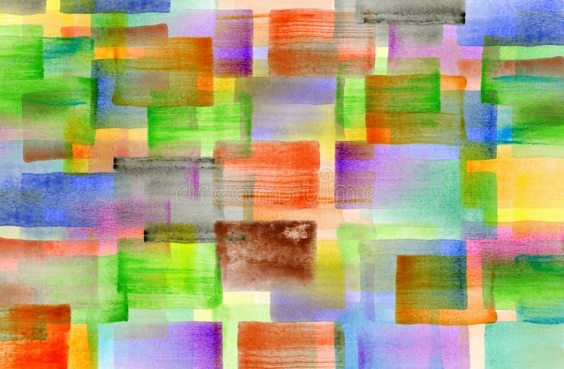 L'aquarelle colorée a conçu le fond d'illustration illustration libre de droits