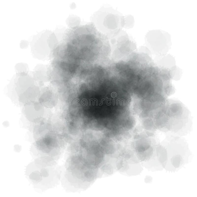 L'aquarelle grise éclabousse photos libres de droits