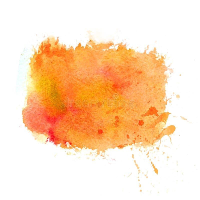 L'aquarelle multicolore frotte la texture saturez illustration stock