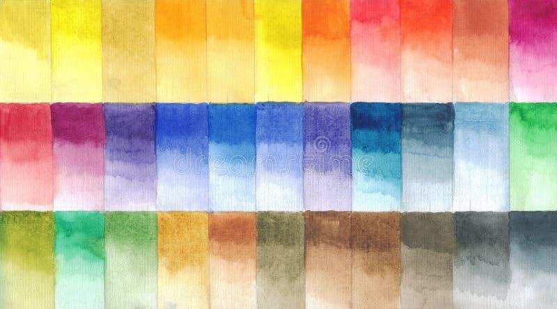 L'aquarelle peint la palette, illustration faite main illustration de vecteur