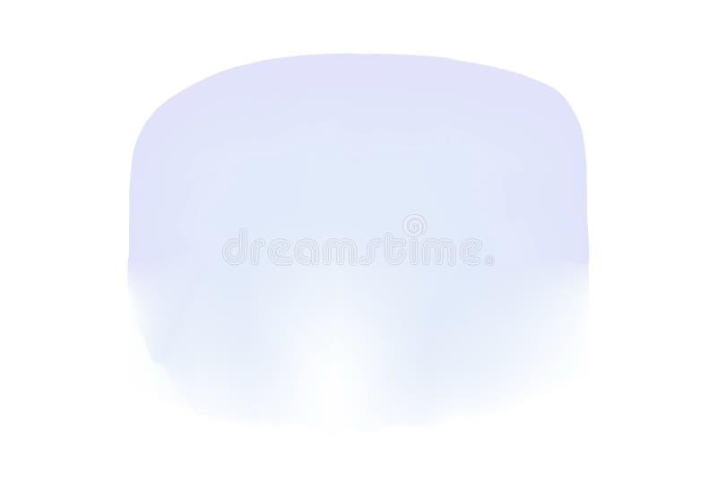 L'aquarelle pourpre souille la couleur de cercles dans la peinture numérique de concept, couleurs pourpres d'illustration douces  illustration de vecteur