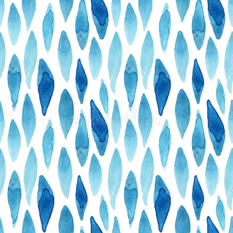 L'aquarelle texturisée a ondulé le modèle sans couture de formes illustration de vecteur
