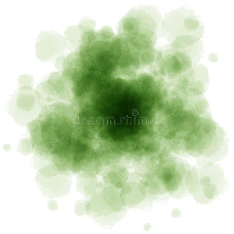 L'aquarelle verte éclabousse photos libres de droits