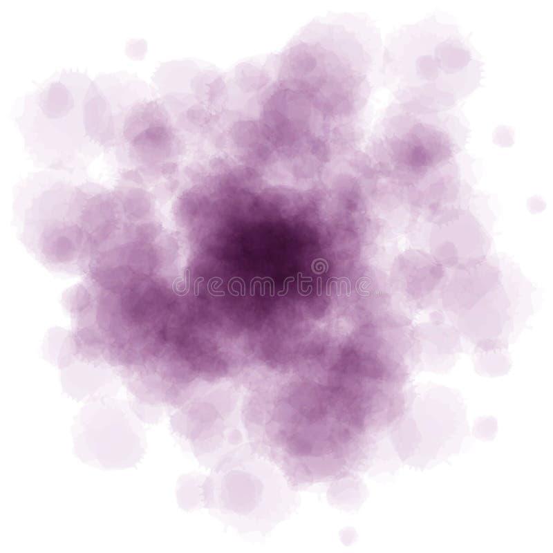 L'aquarelle violette éclabousse image stock