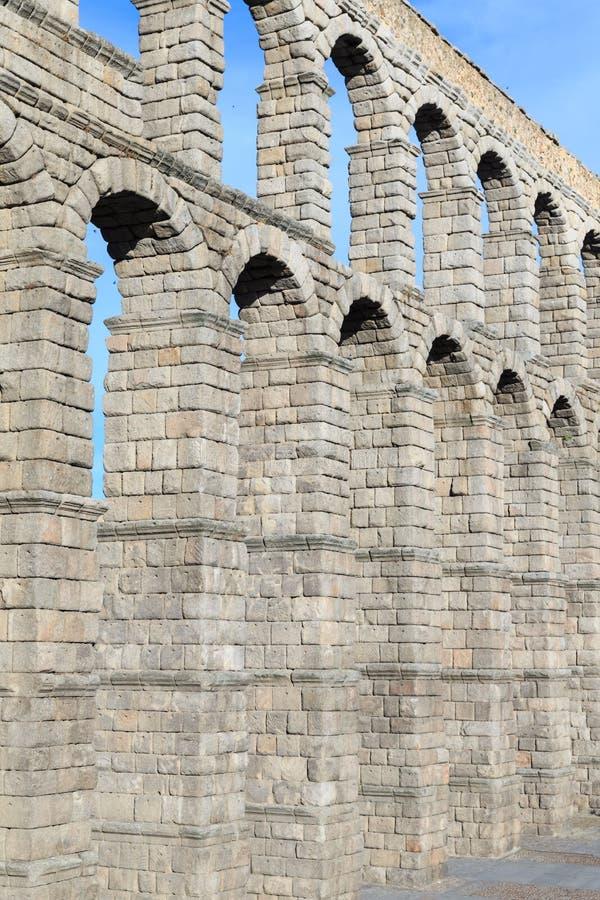 L'aquedotto antico famoso a Segovia, Castiglia y Leon immagine stock libera da diritti