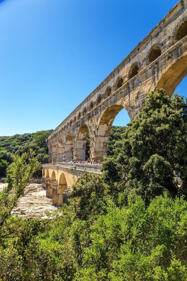 L'aquedotto romano di Pont du il Gard, Francia immagine stock libera da diritti