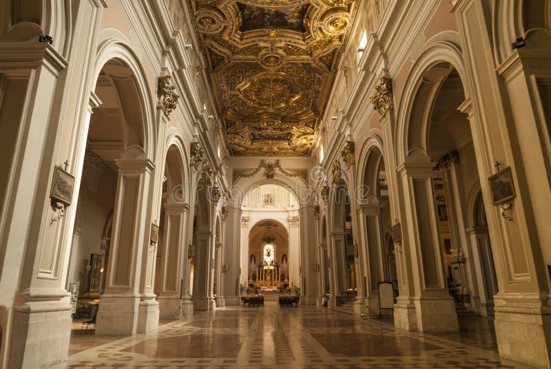 L'Aquila, interior of the S.Bernardino church. L'Aquila (Abruzzi, Italy) - Interior of the San Bernardino church, in Baroque style royalty free stock photo