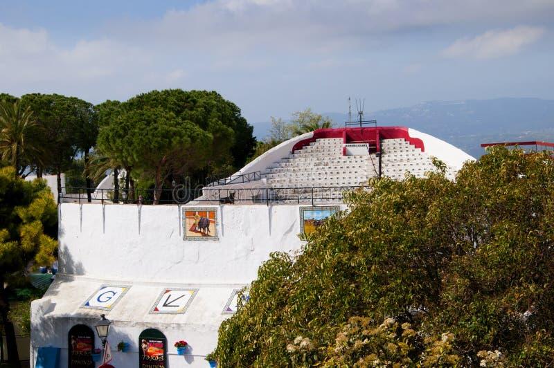 L'arène de Mijas sur Costa Del Sol Andalucia, Espagne images stock