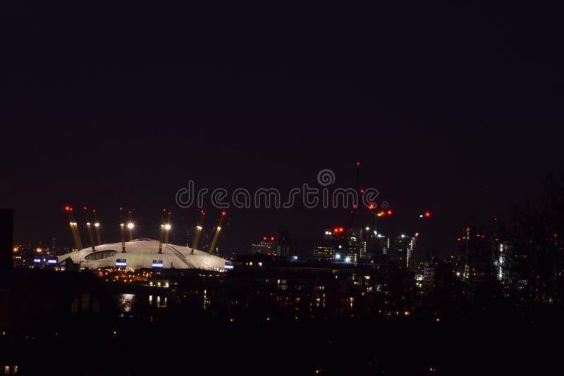 L'arène O2 à Londres images libres de droits