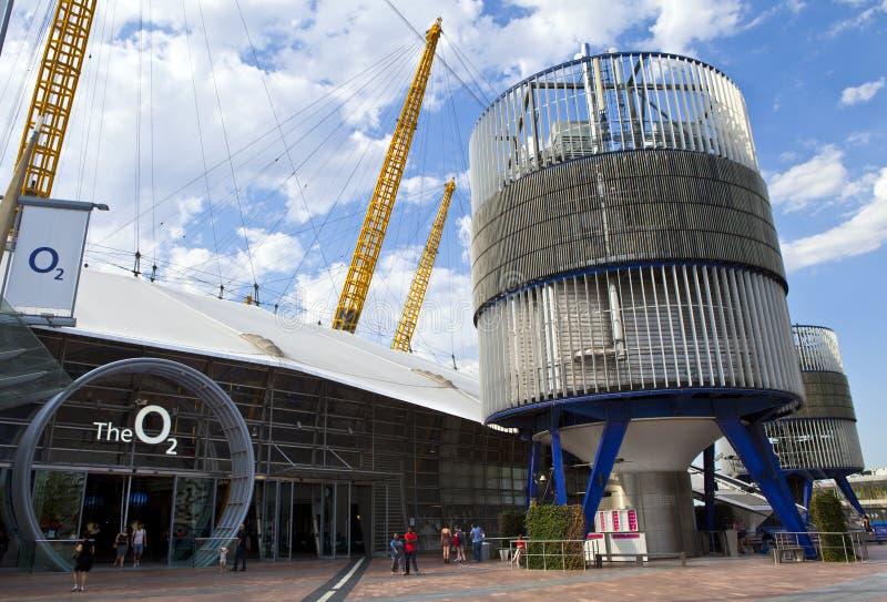 L'arène O2 (Millennium Dome) à Londres photographie stock