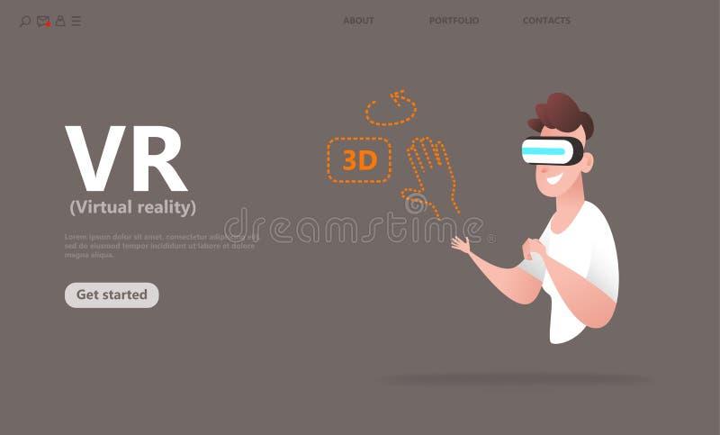 L'AR ha aumentato il concetto della realtà illustrazione vettoriale