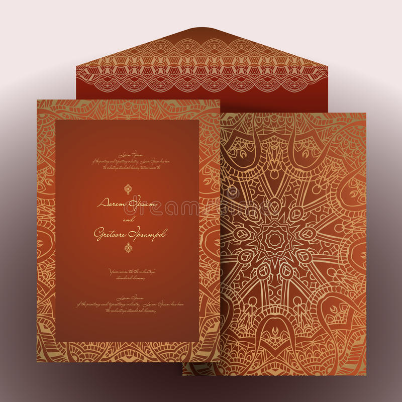 L'arabe d'invitation illustration stock