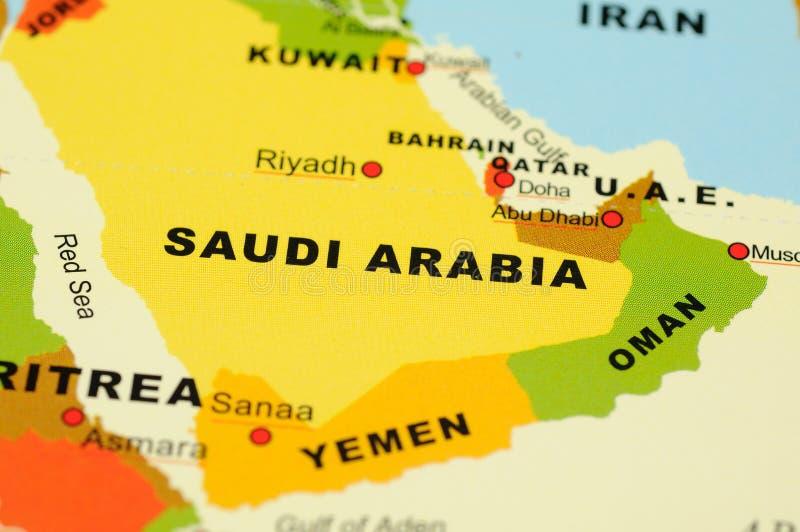 L'Arabia Saudita sul programma immagini stock