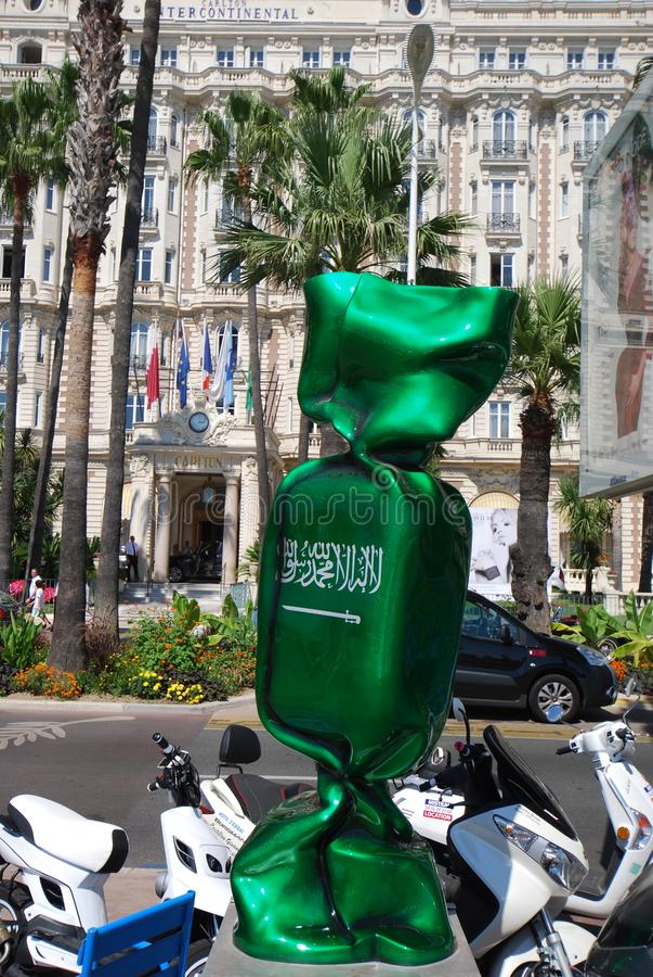 L'Arabia Saudita un cioccolato dalla Francia immagine stock