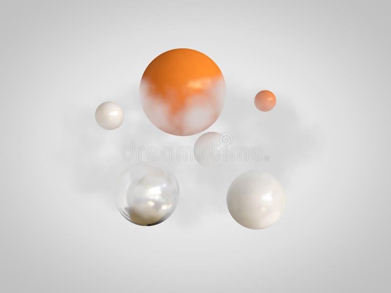 L'arancia astratta della sfera del fumo croma 3d per rendere royalty illustrazione gratis