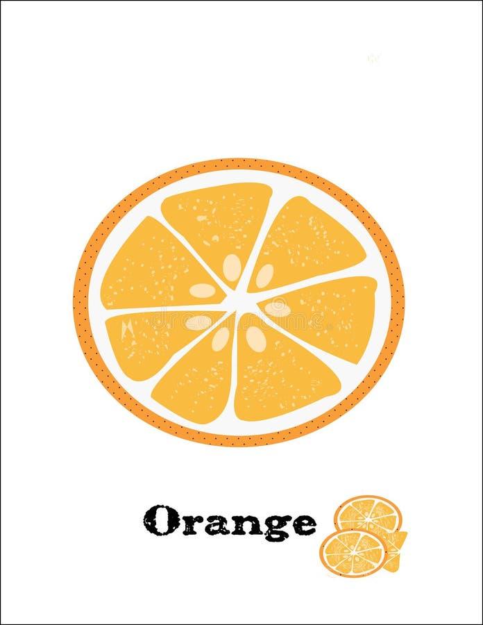 L'arancia fruttifica bello mezzo dolce fotografia stock libera da diritti