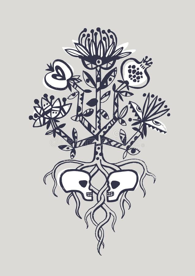 L'arbre de la vie illustration libre de droits