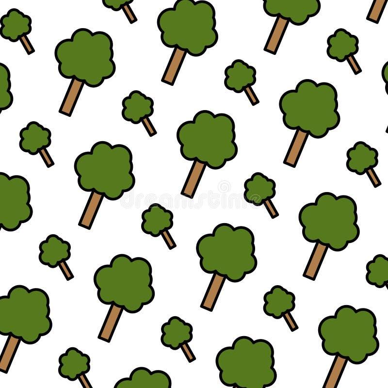 L'arbre de nature de couleur part avec le fond de tige illustration stock