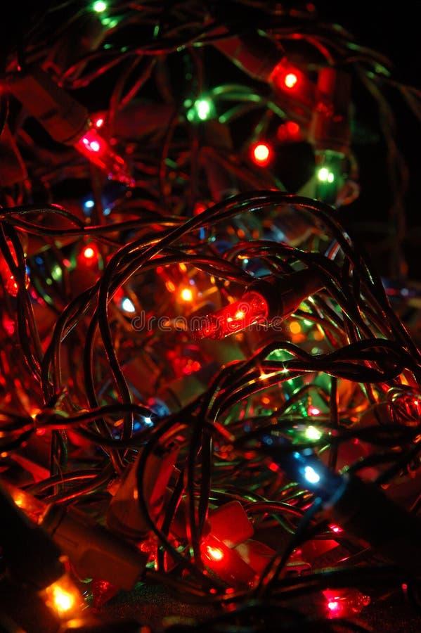 L'arbre de Noël allume le fond photos stock