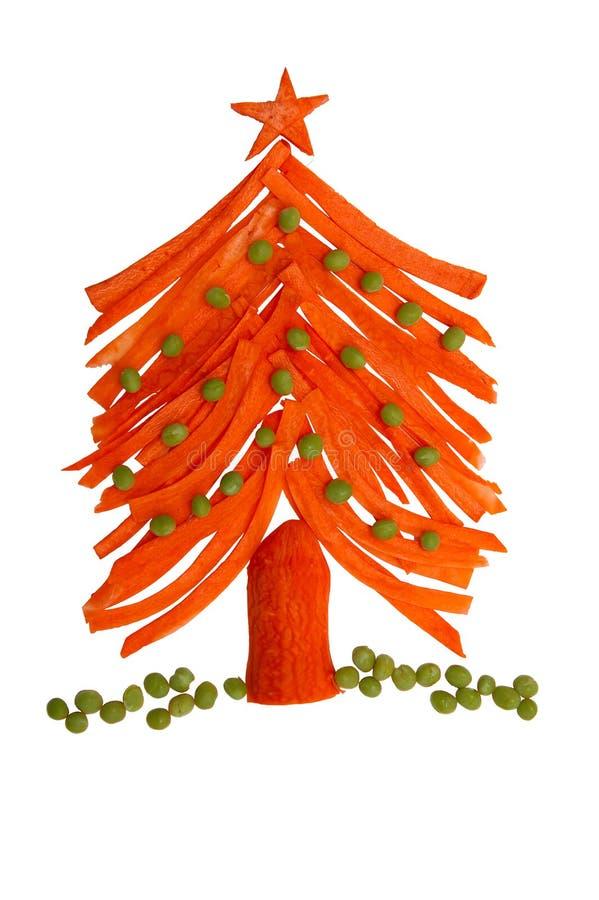 L'arbre de Noël est fait de légumes photos stock