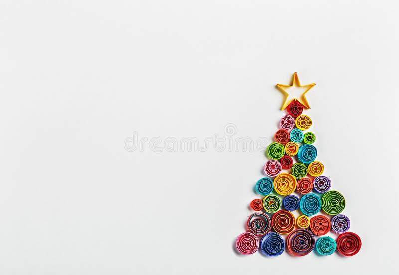 L'arbre de Noël a fait le ‹d'†de ‹d'†du papier image stock