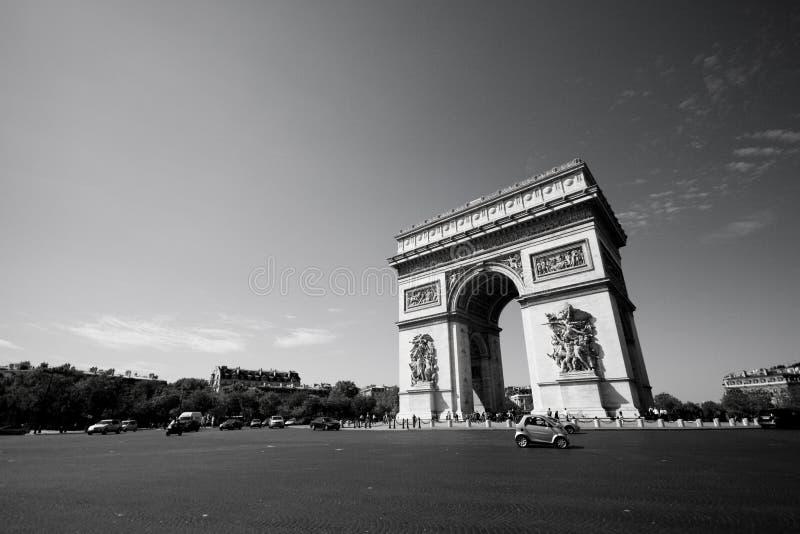 L'Arc de Triomphe stock images