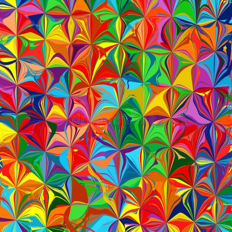 L'arc-en-ciel abstrait a courbé la discrimination raciale de rayures fond de vecteur d'éclaboussure d'art illustration stock