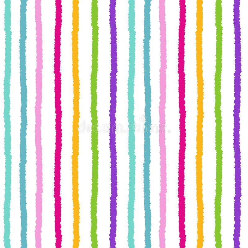 L'arc-en-ciel coloré barre l'illustration sans couture de fond de modèle illustration stock