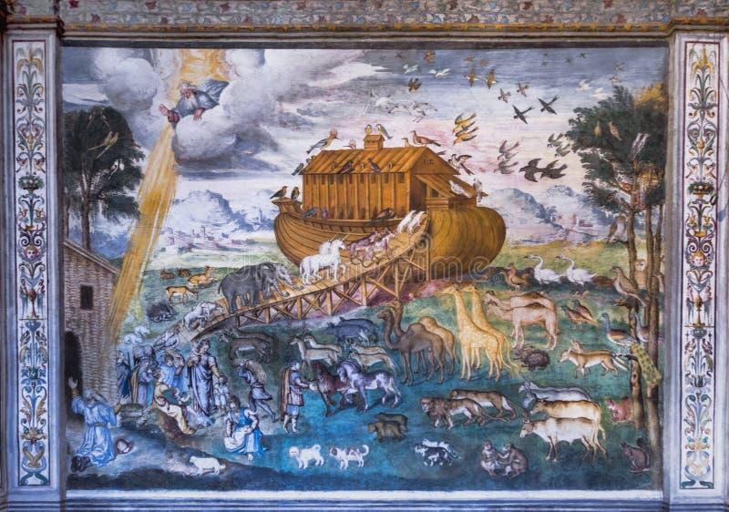 L'arca di Noè nella chiesa della st Maurizio immagine stock libera da diritti