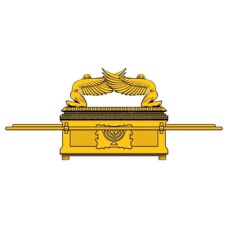 L'arche de l'engagement est le tombeau des personnes juives illustration de vecteur