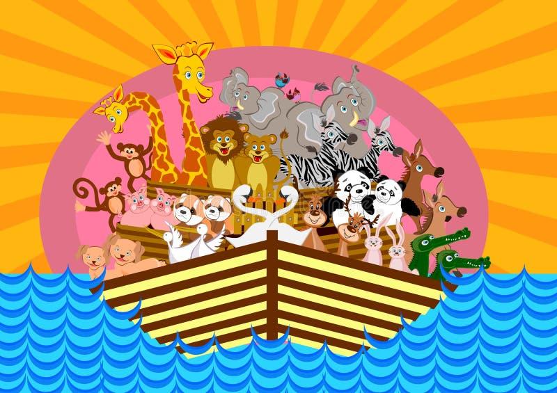 L'arche de Noé illustration stock