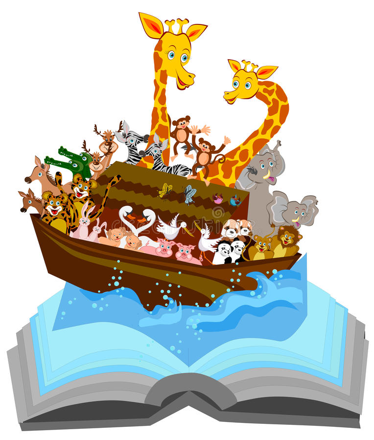 L'arche de Noé illustration de vecteur