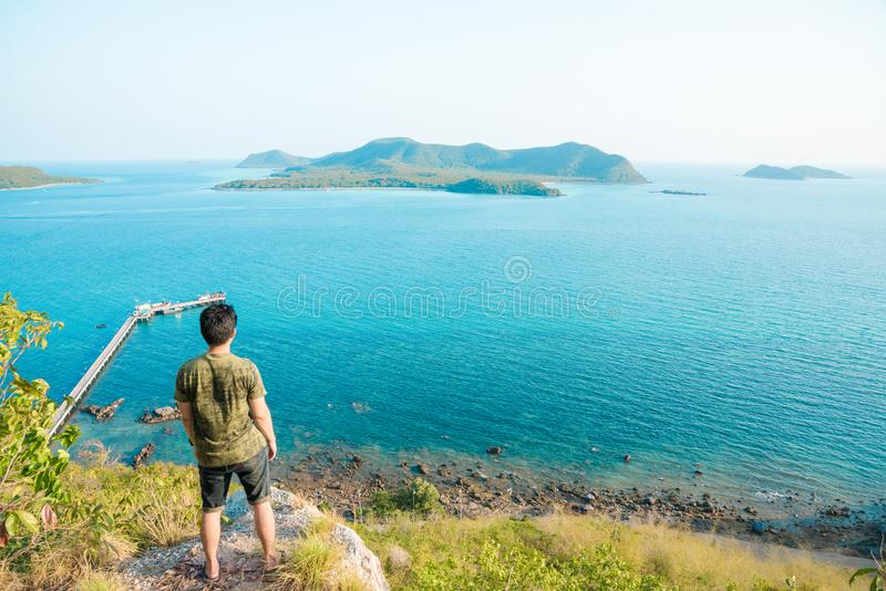 L'archipel de point de vue le plus bel dans Sattahip Chonburi, Tha?lande images libres de droits